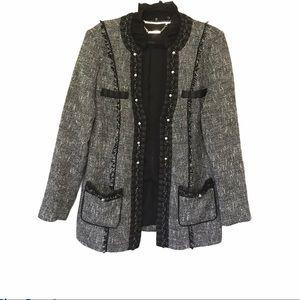 White House Black Market Tweed Long Jacket Coat